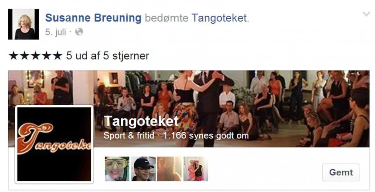 Anmeldelse Tangoteket Susanne Breuning
