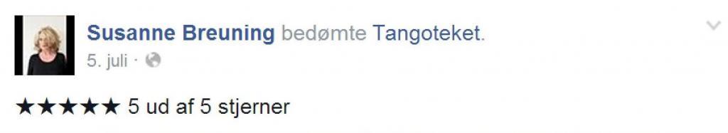 Susanne Breuning anmelder Tangoteket og giver dem 5 stjerner