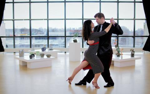 Tango undervisere Camila Viancos og Kim Matzen fra Tangoteket